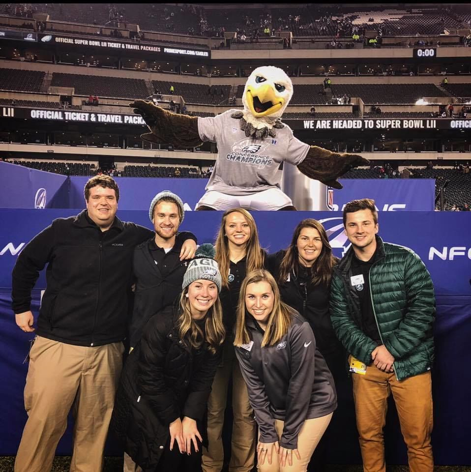 Temple students attend an NFL game at Lincoln Financial Field.