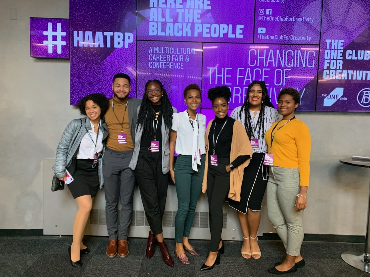Klein Students attend the Here Are All The Black People career and networking event with One Club in New York City.
