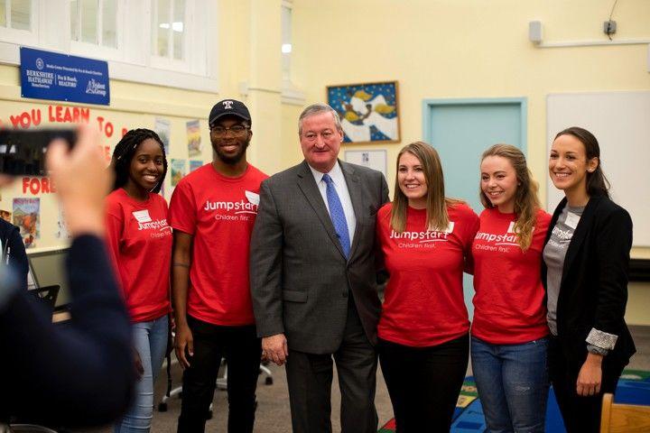 Mayor Kenney with Jumpstart 2017