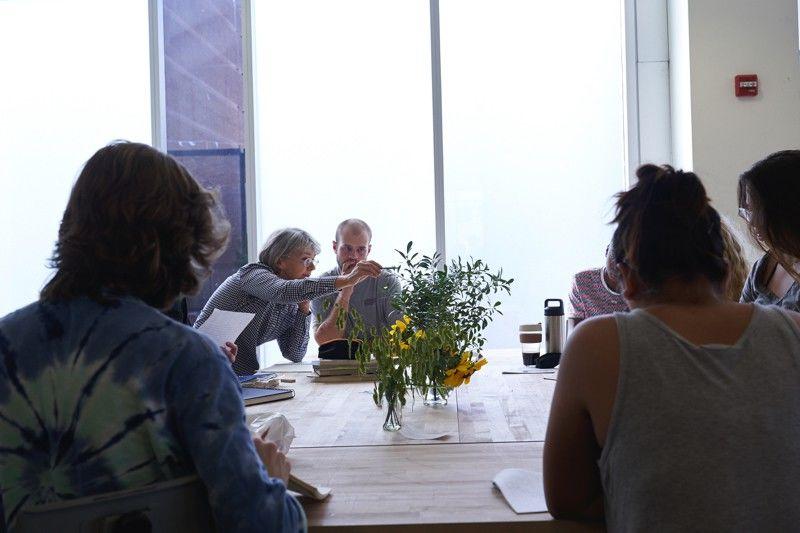 Students in a Landscape Architecture class, led by Pauline Hurley-Kurtz, Associate Professor and Program Coordinator of Landscape Architecture.