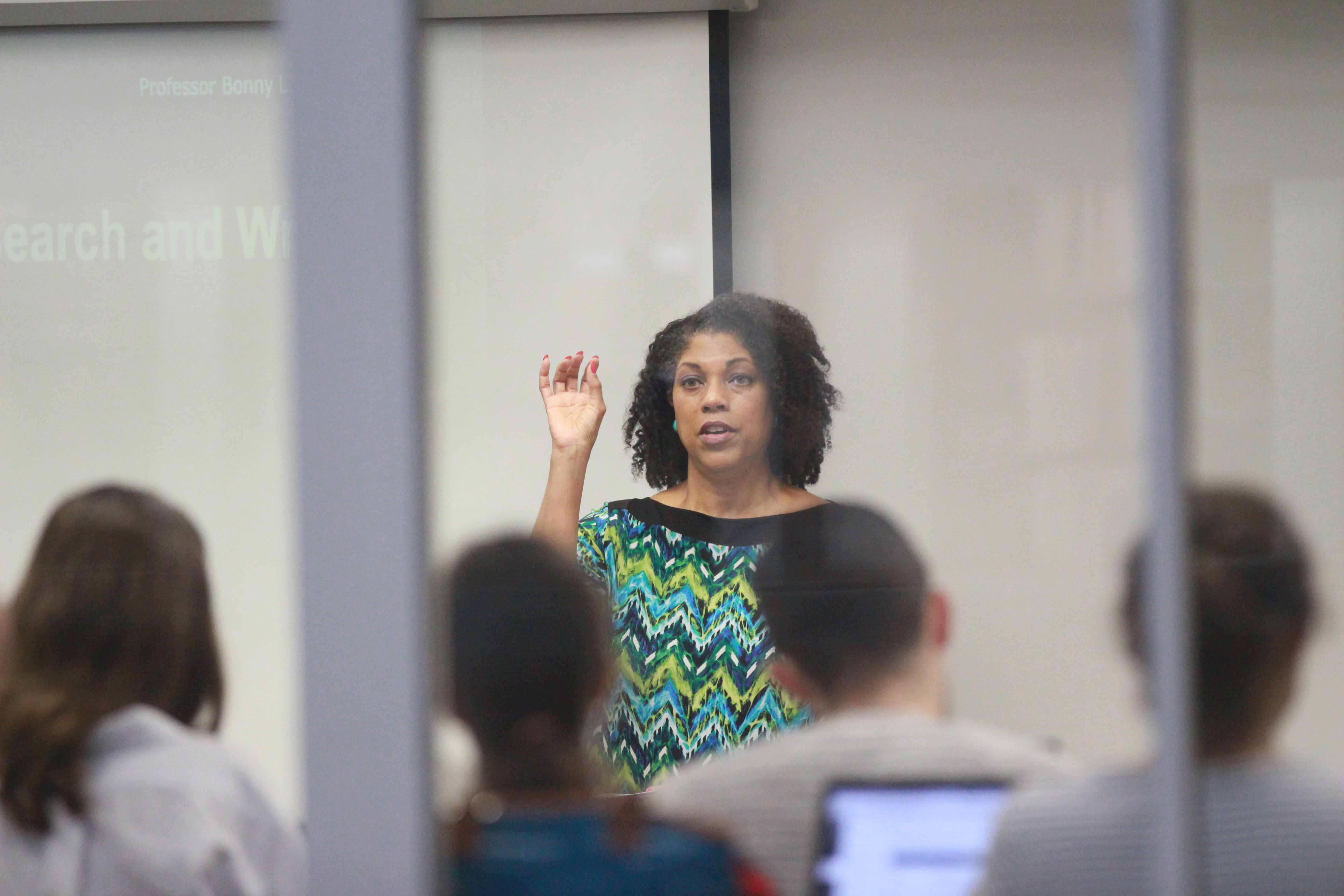 Professor Bonny Tavares teaches the fundamentals of legal research and writing.