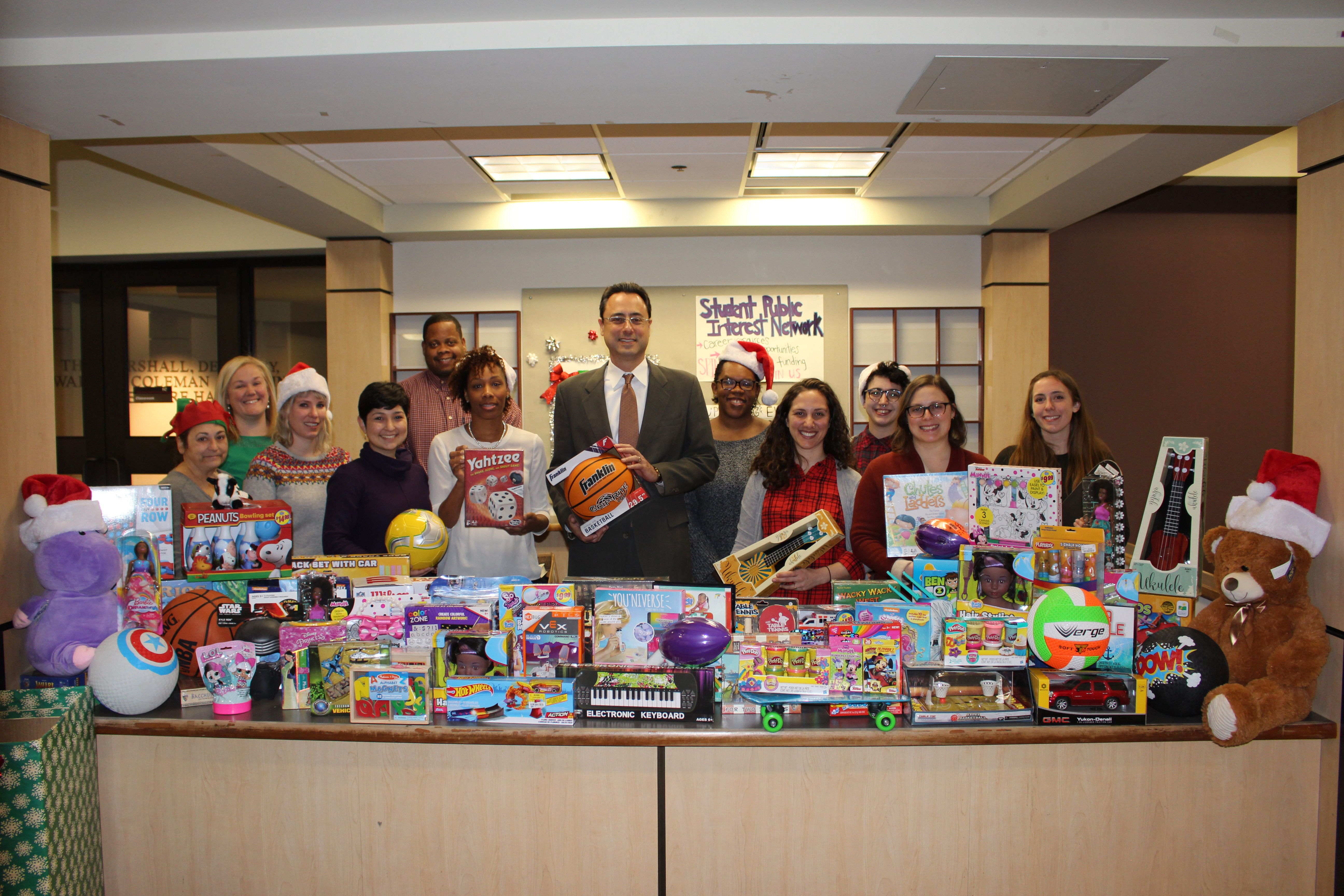 The annual winter Toy Drive, hosted by the Student Public Interest Network (SPIN) organization, always bring the Temple Law community together.
