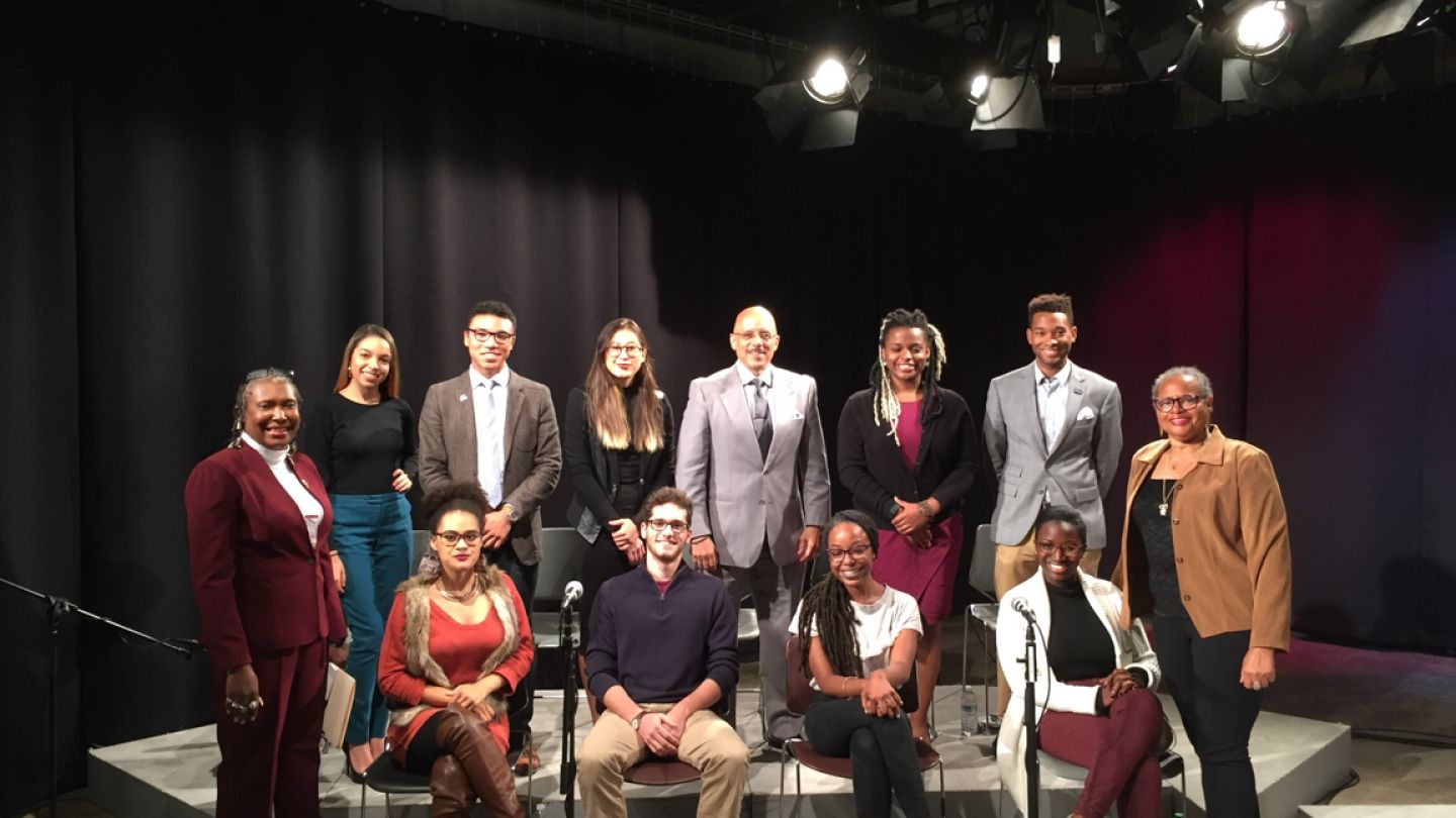 Klein College students, along with Professors Karen Turner and Kimmika Williams-Witherspoon, developed a student forum on racial issues in the 2016 presidential race.