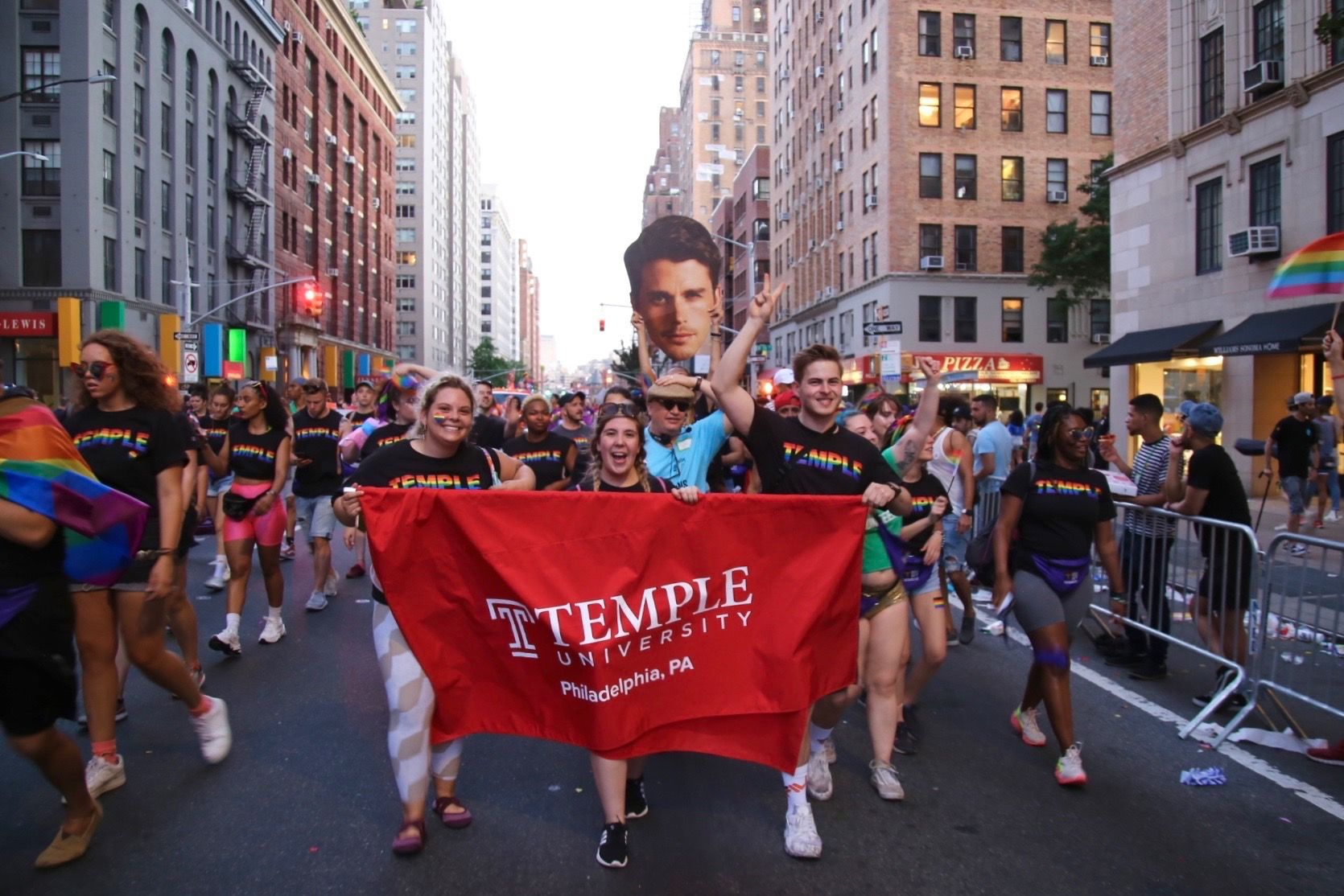 Temple and Klein students, faculty and staff Marched for World Pride in NYC.