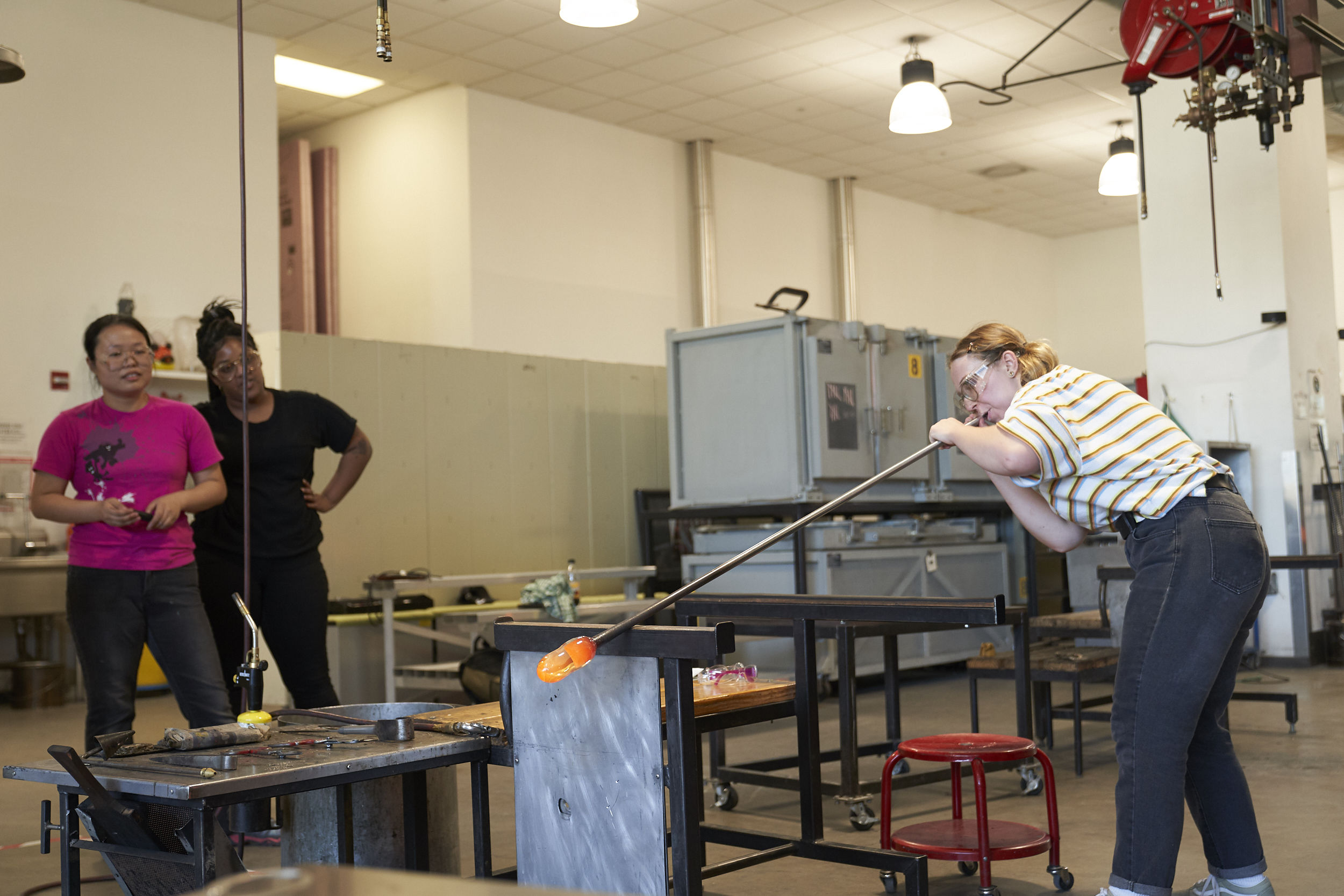 Glass students in Tyler's state-of-the-art facilities.